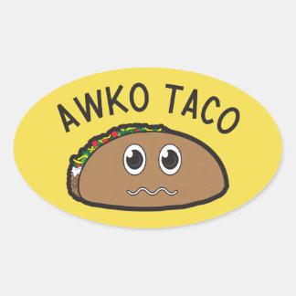 Autocollant de taco d'Awko