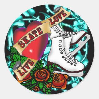 Autocollant de tatouage de SkaterGirl