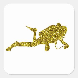 Autocollant de Tauchen d'or