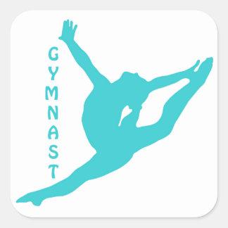 Autocollant de Teal de gymnaste
