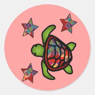 Autocollant de tortue de kaléidoscope