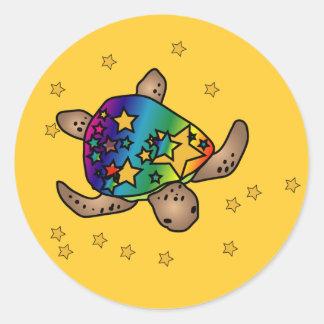 Autocollant de tortue de Starburst