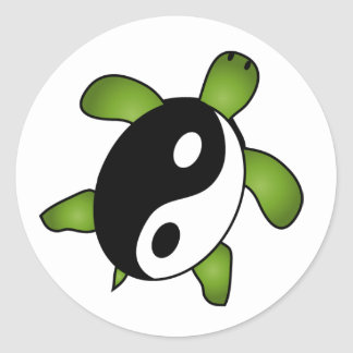 Autocollant de tortue de Yin Yang