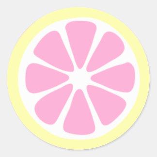 Autocollant de tranche de citron