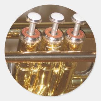 Autocollant de trompette