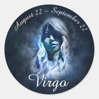 Autocollant de Vierge de signe de zodiaque