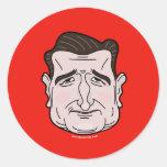 Autocollant de visage de bande dessinée de Ted