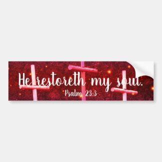 Autocollant De Voiture 23:3 de psaume il Restoreth mon adhésif pour