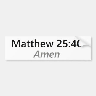 Autocollant De Voiture 25:40 de Matthew