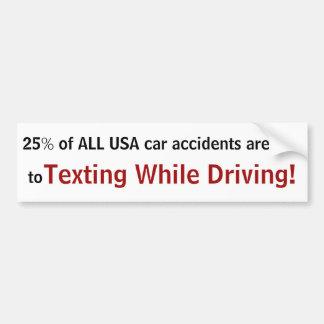Autocollant De Voiture '25% de TOUS LES accidents de voiture des