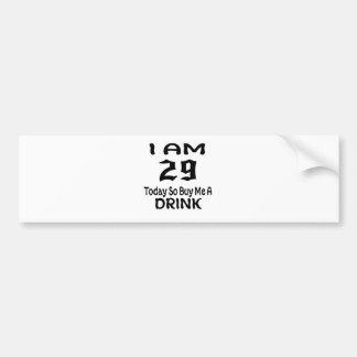 Autocollant De Voiture 29 achetez-aujourd'hui ainsi moi une boisson