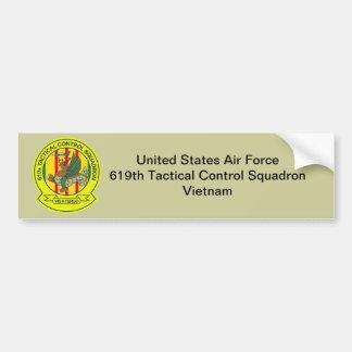 Autocollant De Voiture 619th Escadron Vietnam de contrôle tactique