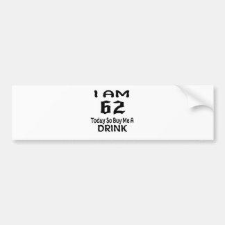 Autocollant De Voiture 62 achetez-aujourd'hui ainsi moi une boisson