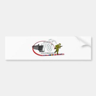 Autocollant De Voiture 70ème anniversaire du Débarquement de Normandie