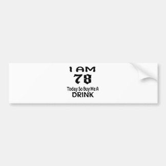 Autocollant De Voiture 78 achetez-aujourd'hui ainsi moi une boisson