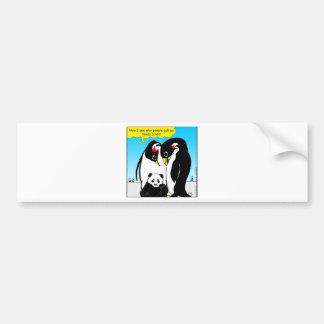 Autocollant De Voiture 941 oiseaux de panda sont bande dessinée de