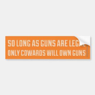 Autocollant De Voiture À condition que les armes à feu soient juridiques