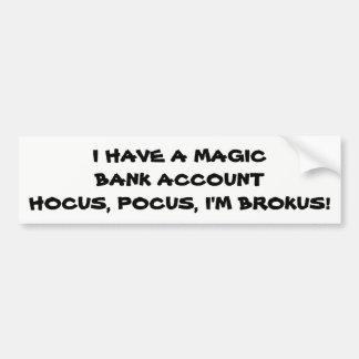 Autocollant De Voiture Abracadabra je suis Brokus
