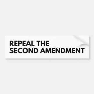 Autocollant De Voiture Abrogez le deuxième amendement - adhésif pour