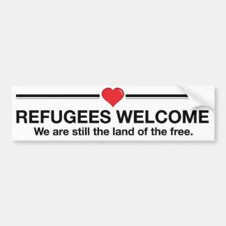 Autocollant De Voiture Accueil de réfugiés