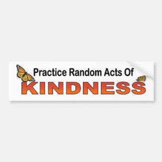 Autocollant De Voiture Actes aléatoires de pratique de la gentillesse de