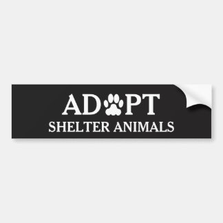 """Autocollant De Voiture Adhésif pour pare-chocs """"adoptez d'abri animaux"""""""