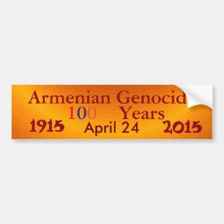Autocollant De Voiture Adhésif pour pare-chocs arménien de génocide