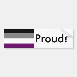 Autocollant De Voiture Adhésif pour pare-chocs asexuel de drapeau de