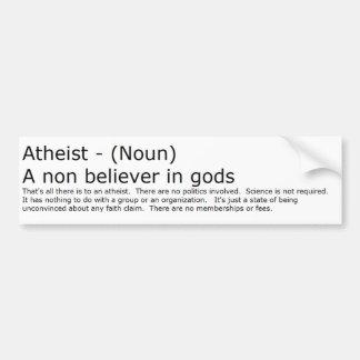 Autocollant De Voiture Adhésif pour pare-chocs athée