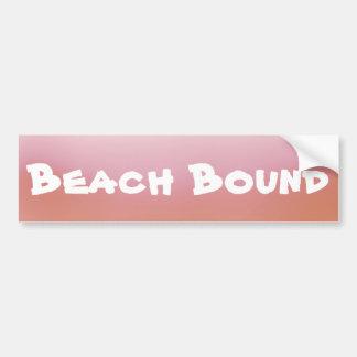 Autocollant De Voiture Adhésif pour pare-chocs attaché de plage orange