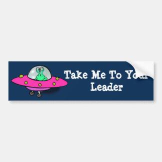 Autocollant De Voiture Adhésif pour pare-chocs avec l'alien dans le