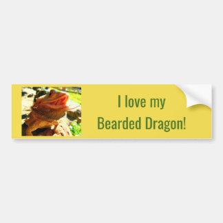 Autocollant De Voiture Adhésif pour pare-chocs barbu de sourire de dragon