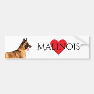 Autocollant De Voiture Adhésif pour pare-chocs belge de Malinois de