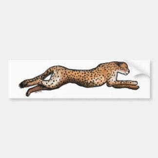 Autocollant De Voiture Adhésif pour pare-chocs courant d'art de guépard