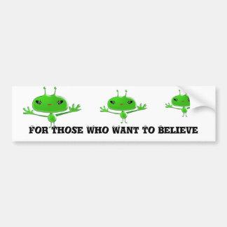 Autocollant De Voiture Adhésif pour pare-chocs d'aliens pour ceux qui