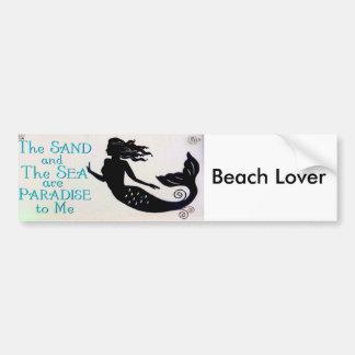 Autocollant De Voiture adhésif pour pare-chocs d'amant de plage