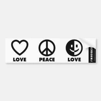 Autocollant De Voiture Adhésif pour pare-chocs d'amour de paix d'amour