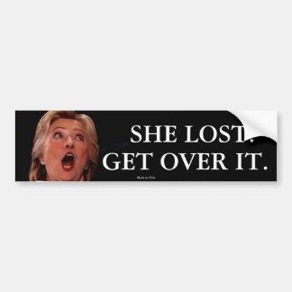 Autocollant De Voiture Adhésif pour pare-chocs d'Anti-Hillary Clinton