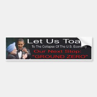 Autocollant De Voiture Adhésif pour pare-chocs d'Anti-Obama