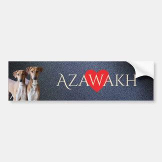 Autocollant De Voiture Adhésif pour pare-chocs d'Azawakh