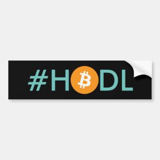 Autocollant De Voiture Adhésif pour pare-chocs de Bitcoin de #HODL