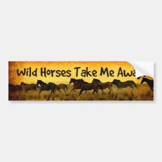 Autocollant De Voiture Adhésif pour pare-chocs de cheval sauvage