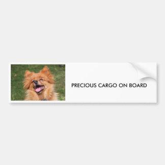 Autocollant De Voiture Adhésif pour pare-chocs de chien de Pomeranian