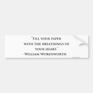 Autocollant De Voiture Adhésif pour pare-chocs de citation de William