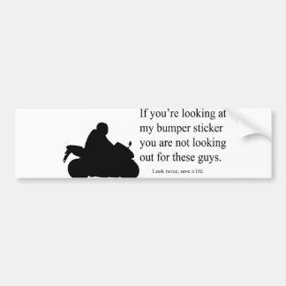 Autocollant De Voiture Adhésif pour pare-chocs de conscience de moto