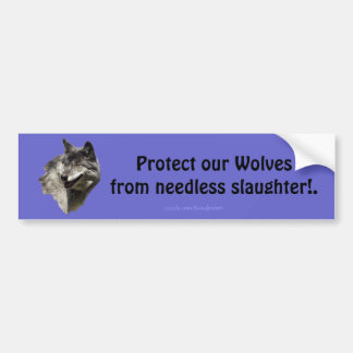 Autocollant De Voiture Adhésif pour pare-chocs de conservation de loup de