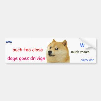 Autocollant De Voiture Adhésif pour pare-chocs de doge