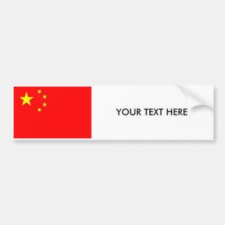 Autocollant De Voiture Adhésif pour pare-chocs de DRAPEAU de Chine