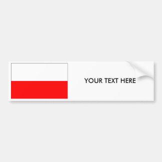 Autocollant De Voiture Adhésif pour pare-chocs de DRAPEAU de la Pologne