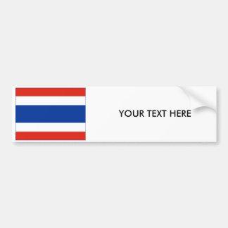 Autocollant De Voiture Adhésif pour pare-chocs de DRAPEAU de la Thaïlande